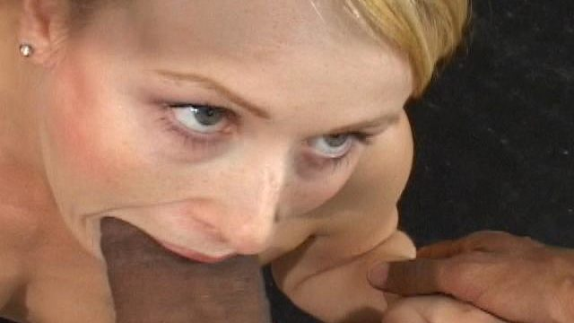 Enthralling Platinum-blonde Teenager Sharon Inhaling A Monster Dark-hued Manhood At The Bed