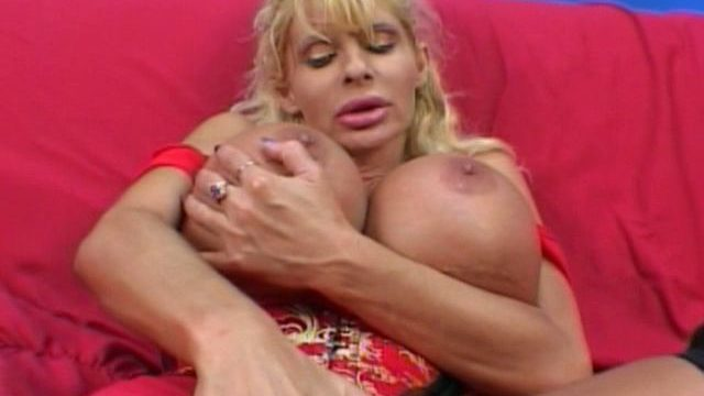 Super-naughty Ash-blonde Mummy Misty Knights Groping Her Phat Bra-stuffers With Eagerness