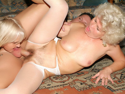Matures In Lingeries Three-manner