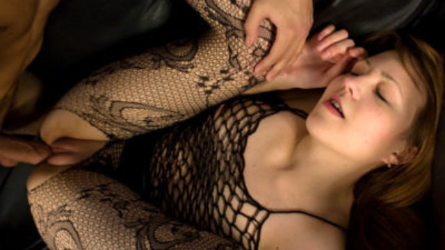 Insatiable Teenage In Fishnet Humped
