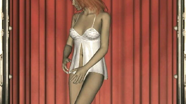 Crimson Haired 3d Teen Slut Lita Dancing In Her Spicy White Babydoll