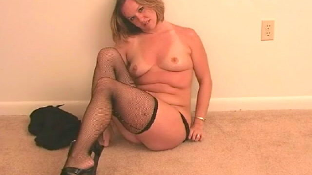 Supreme Blond Wifey Tessa Unclothing Dark-hued Lingeria And Taunting Us Together With Her Pantyhose