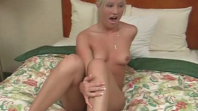 Enticing Platinum-blonde Ultra-cutie Frolicking Together With Her Pierced Fuckbox For You