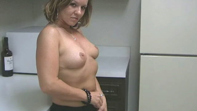 Sensuous Blonde Wifey Tessa Massaging Her Marvelous Assets With Eagerness Within The Kitchen