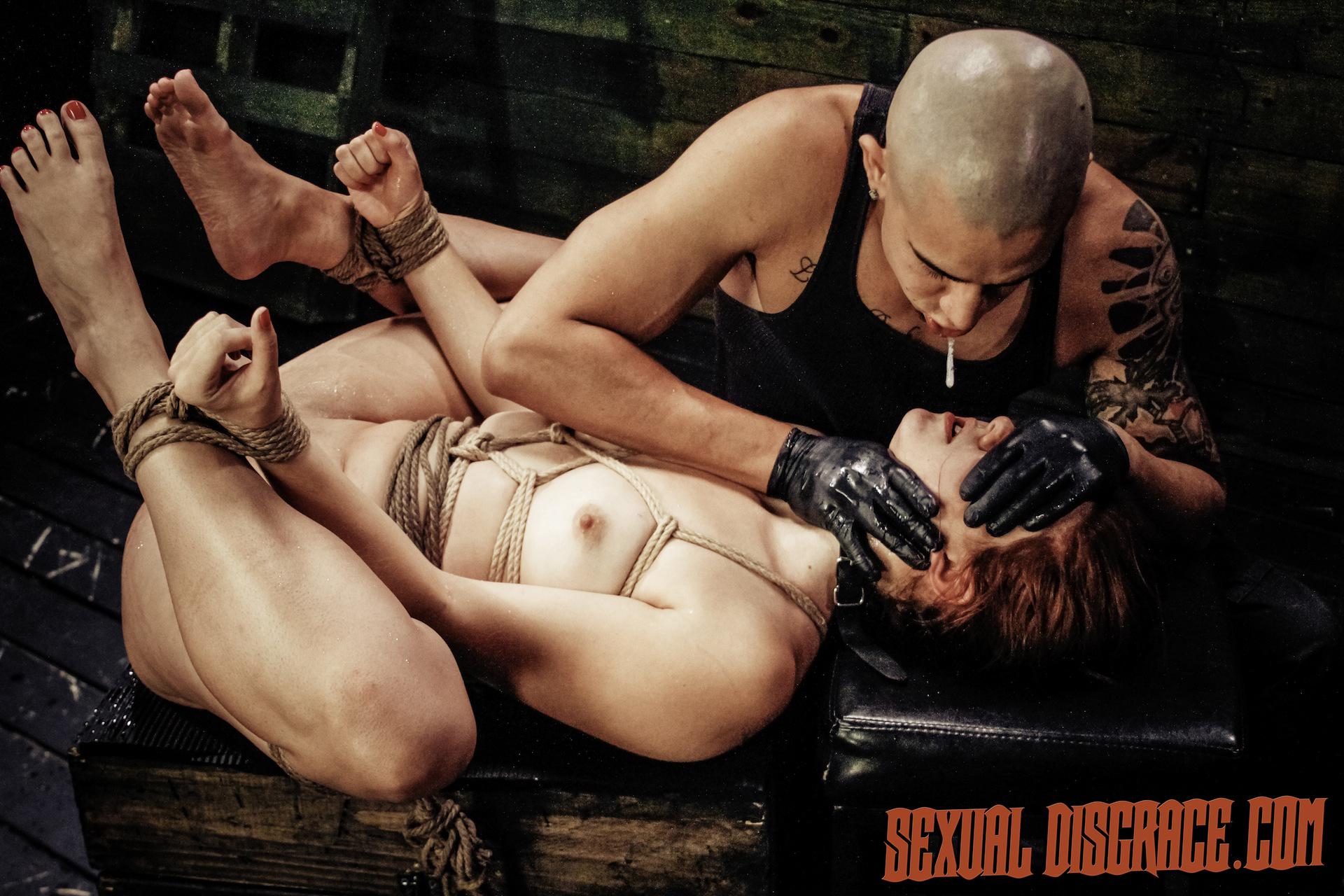 Rose Crimson Tyrell Suffers Strap Restrain Bondage, Gargle Bj, Raunchy Rectal Fuck-fest, Sybian Saddle, Unloading