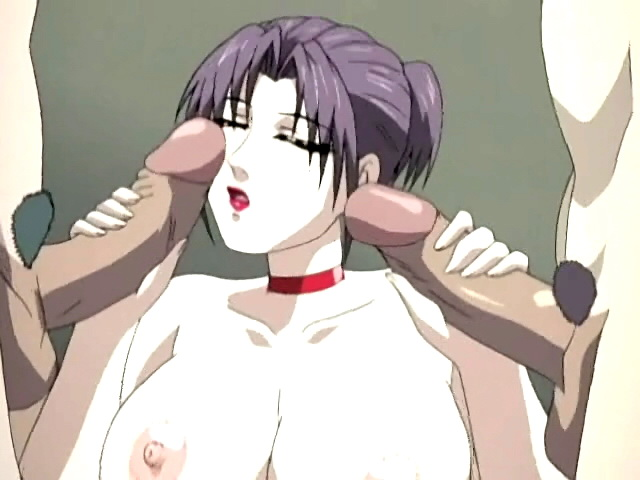Huge-titted Manga Porn Damsel Takes 2 Peckers Simultaneously