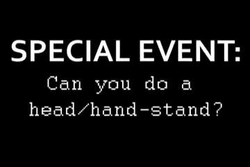 Web Cam Gal Olympics – Head(mitt) Stand