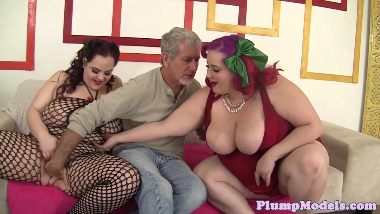 Big-titted Plus-size Sweeties Love Three-way Fuck-a-thon