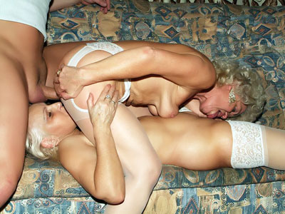 Huge Grandmothers Having A Threeway
