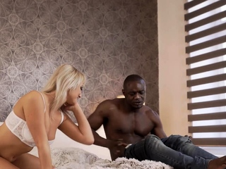 Black4k. Playing Blond Dame Is Pulverized By Means Of Crafty Ebony