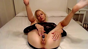 Silver Faux-cock In A Mouth-watering Teenager Cooter